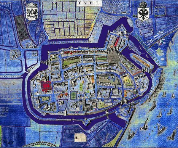 blauwe kaart kleinformaat